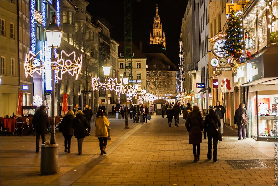 Улицы Мюнхена в Рождество