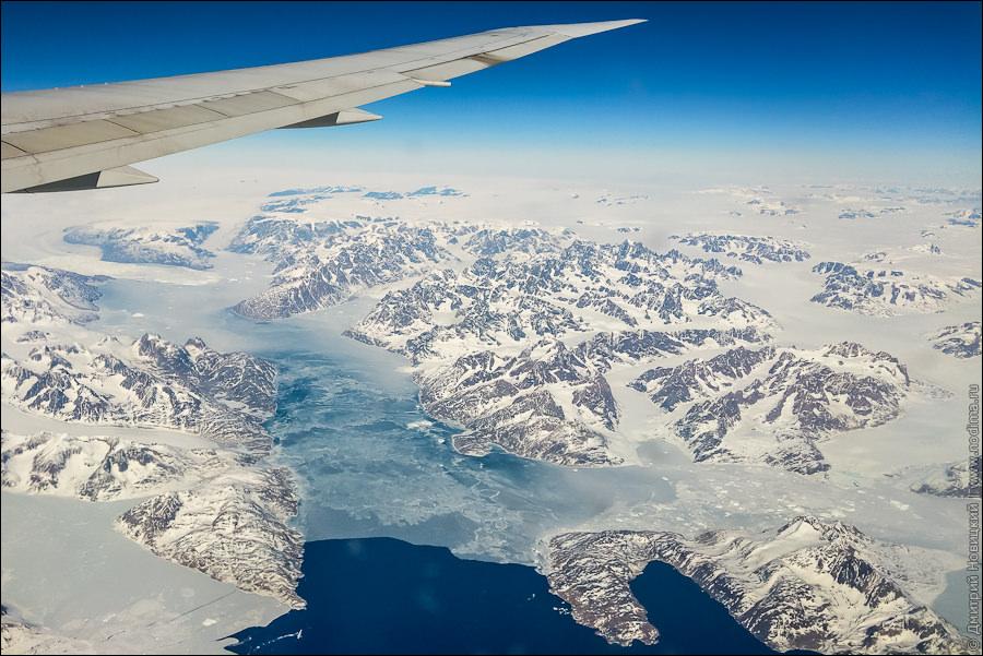 1. Гренландия с самолета